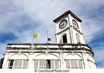 Old building in Phuket town, Thailand.
