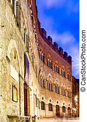 Old Building In Siena, Tuscany, Italy