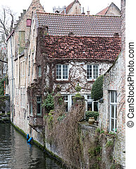 Old building in the city of Brugge