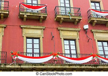 old building in the city of Gijon, Spain