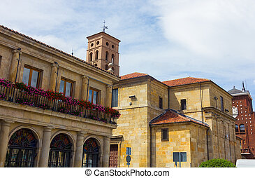 Old building in the city of Leon in Spain