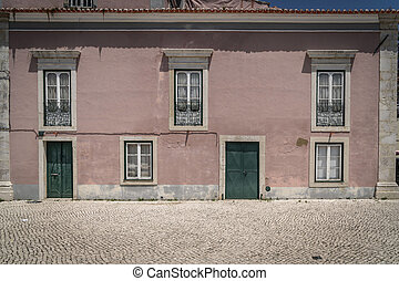 old building in the city of Setubal, Portugal