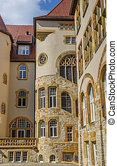 Old building in the historical center of Bielefeld