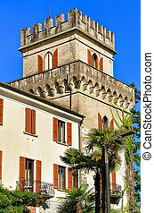 Old building of Ascona Ticino Swiss - Old building at the...