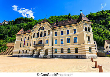 Old building of parliament in Vaduz. - Old building of ...