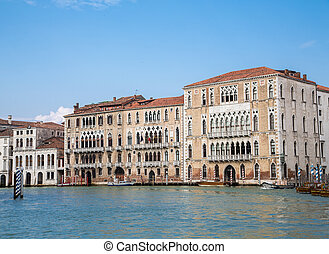 Old Building on Blue Canal in Venice