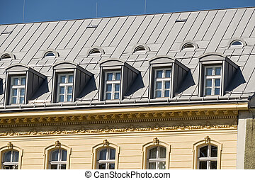 old building with a loft, a symbol of living space,...