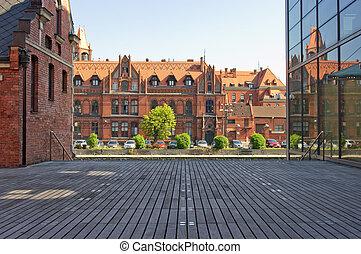 Old buildings in Bydgoszcz, Poland