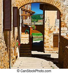 Medieval City - Old Buildings in Italian Medieval City