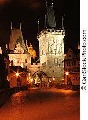 Prague in the night