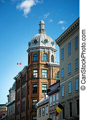 Old buildings in Quebec city