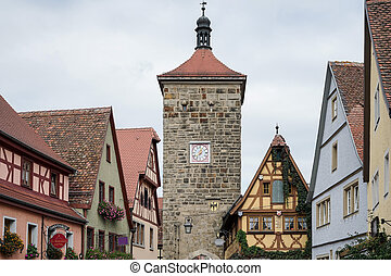 Old buildings in Rothenburg