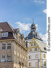 Old buildings in the historical center of Paderborn