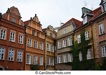 Old buildings in Warsaw