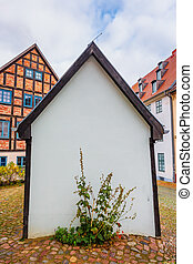 old buildings in Wolgast, Mecklenburg-West Pomerania, Germany