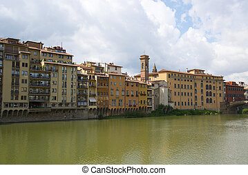 old buildings on the Arno river
