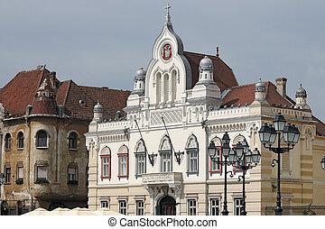 old buildings Union Sqaure Timisoara Romania