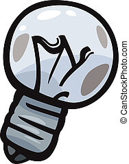 old bulb junk cartoon illustration