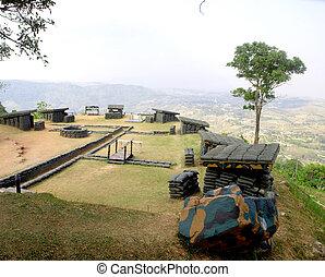 old bunker in Khao Kho Viewpoint , Phetchabun , Thailand tourism