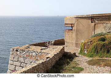 Old bunker on the coast in Gibraltar