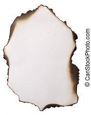 old burnt paper