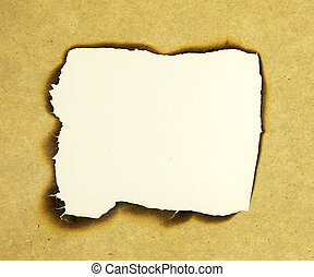 old burnt paper with burnt edges
