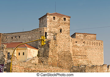 Old byzantine fortress at Thessaloniki city in Greece