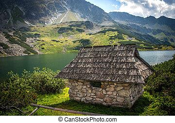 Old cabin in the Tatras Mountain Range.