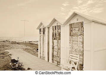 old cabin on the beach