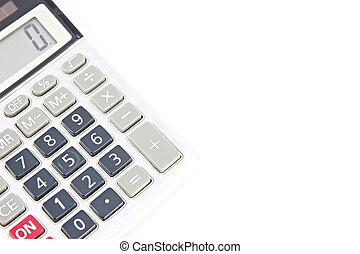 Old Calculator isolated. - Old Calculator isolated on white...