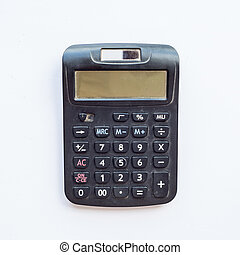 Old Calculator on white background