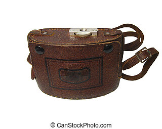 Old compact camera case