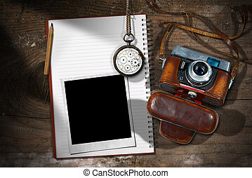 Old Camera - Instant Photo Frame and Notebook