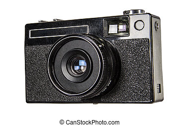 Old camera, isolated on white background,with clipping path