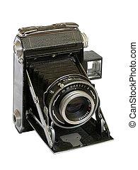 Old folded camera