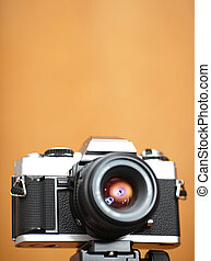 old camera with copyspace in shallow dof