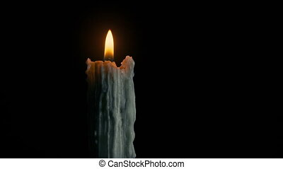 Old Candle Burning In The Dark