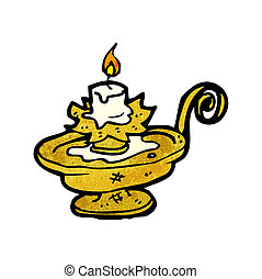 old candle holder cartoon