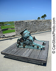 old cannon in Castillo de San Marcos fort