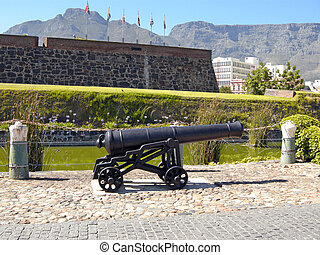 Castle of Good Hope, Cape Town - Old cannon in Castle of...
