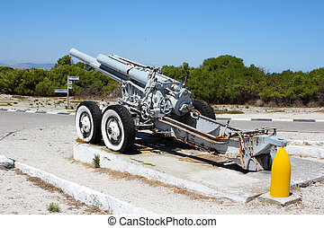 Old Cannon on Robben Island, Cape Town, South Africa