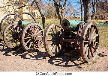 Old cannon. Suomenlinna island, Finland - Historic cannon at...