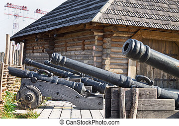 old cannons in the Zaporozhye Sech