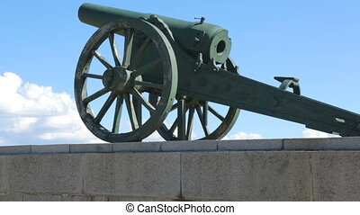 Old cannons situated on mountain