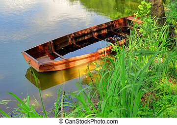 Old Canoe in a lake