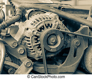 Old car alternator