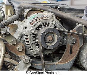 Old car alternator