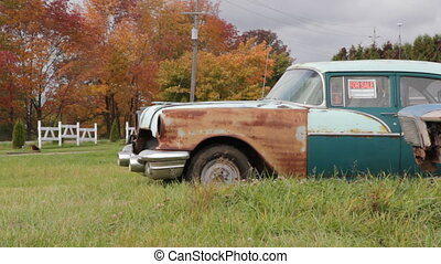 Old car for sale. - An old car for sale. Farmer%u2019s field...