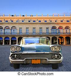 Old car in havana street