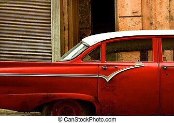 Old car in la havana - Old car in La Havana, Cuba.
